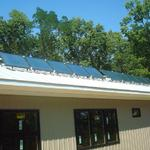 solar panels and standing-seam metal roof
