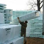 NUDURA insulated concrete forms (ICFs)  Unloading the truck...